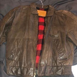 Vintage Men's leather jacket size small